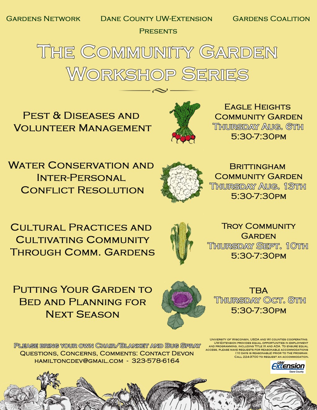 The Community Garden Workshop Series Flyer